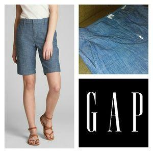 "GAP 10"" Bermuda Shorts In Stretch Chambray"
